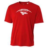 Mens Short Sleeve T-Shirt - Dragons Football Laces