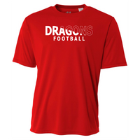 Mens Short Sleeve T-Shirt - Dragons Football Slashed