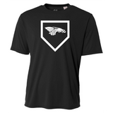 Mens Short Sleeve T-Shirt - Dragons Baseball Home Plate
