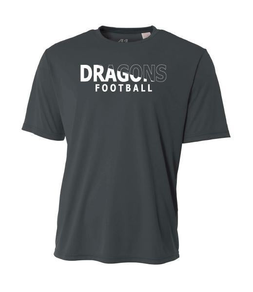 Youth Short Sleeve T-Shirt - Dragons Football Slashed