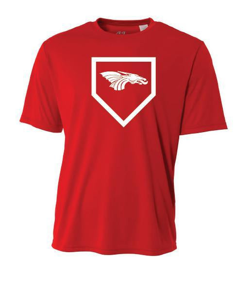 Youth Short Sleeve T-Shirt - Dragons Baseball Home Plate