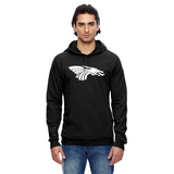 Unisex California Fleece Hoodie - White Dragon Head