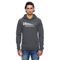 Unisex California Fleece Hoodie - Dragons Baseball Slashed White