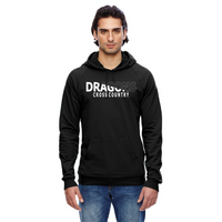 Unisex California Fleece Hoodie - Dragons Cross Country Slashed White