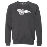Unisex Sponge Fleece Sweatshirt - White Dragon Head Logo