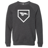 Unisex Sponge Fleece Sweatshirt - Dragons Baseball Home Plate