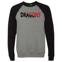 Unisex Sponge Fleece Sweatshirt - Dragons Football Slashed