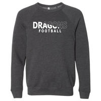 Unisex Sponge Fleece Sweatshirt - Dragons Football Slashed White