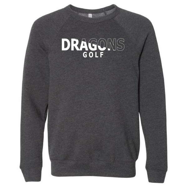 Unisex Sponge Fleece Sweatshirt - Dragons Golf Slashed White