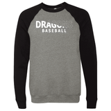 Unisex Sponge Fleece Sweatshirt - Dragons Baseball Slashed White