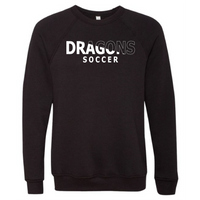 Unisex Sponge Fleece Sweatshirt - Dragons Soccer Slashed White