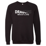 Unisex Sponge Fleece Sweatshirt - Dragons Wrestling Slashed White