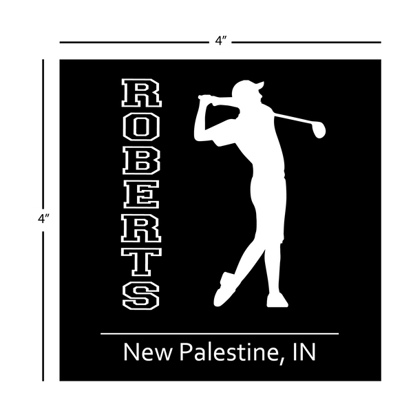 Boys Golf Window Decal - Personalized