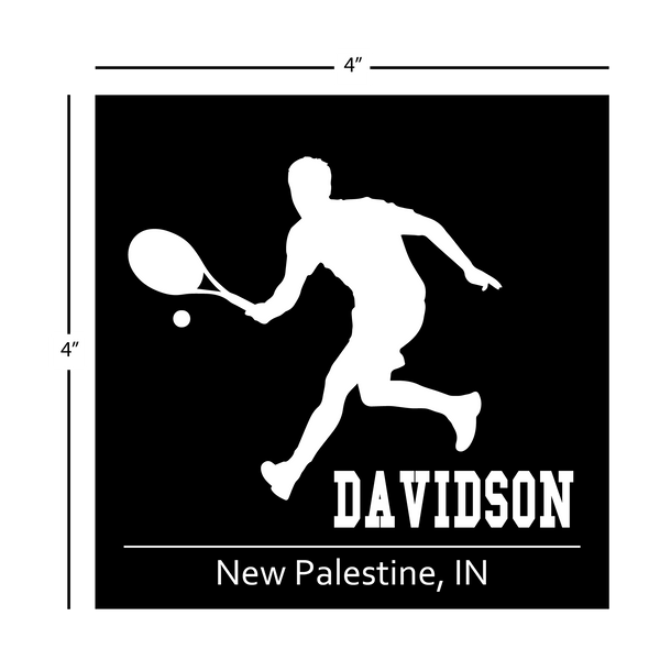 Tennis Window Decal - Personalized