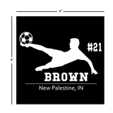 Soccer Window Decal - Personalized