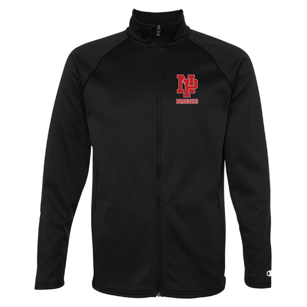 Unisex Performance Fleece Full-Zip Jacket - Red NP DRAGONS, stacked