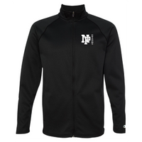 Unisex Performance Fleece Full-Zip Jacket - White NP DRAGONS, side by side