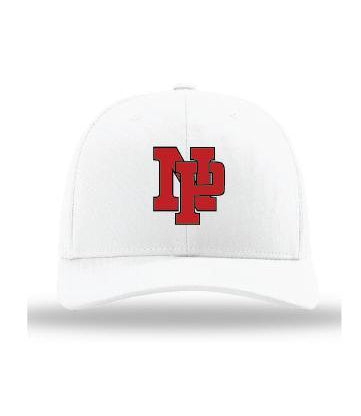 White on White w/Red NP Logo (embroidered)