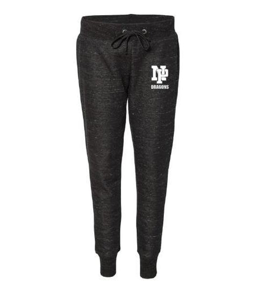 Women's Jogger Pants - White NP Dragons, Stacked
