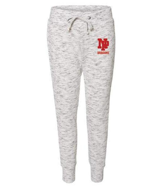 Women's Jogger Pants - Red NP Dragons, Stacked
