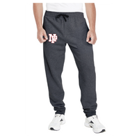 Adult Unisex Joggers - White NP Logo, Red Outline