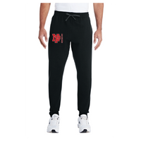 Adult Unisex Joggers - Red NP Dragons, Side by Side