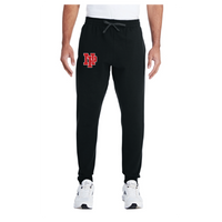 Adult Unisex Joggers - Red NP Logo, White Outline