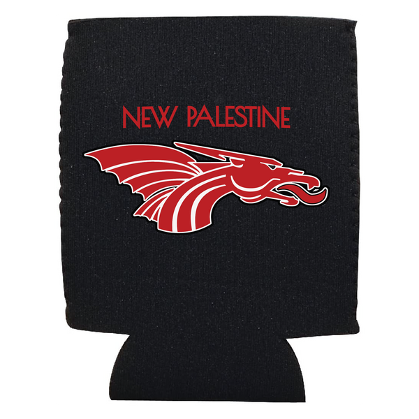 Red New Pal Dragons Logo Koozie