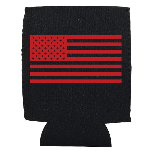 Red American Flag Koozie
