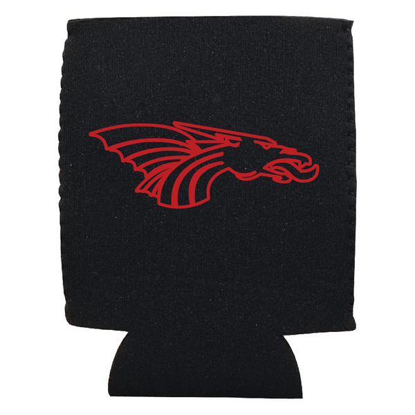 Red Dragon Logo Outlined Koozie
