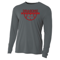 Mens Long Sleeve T-Shirt - Dragons Basketball