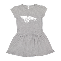Infant/Toddler Dress - Dragon Head (white)
