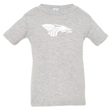 Infant Short Sleeve T-Shirt - White Dragon Head Logo