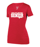 Womens Heathered V-Neck T-Shirt -New Palestine SENIOR