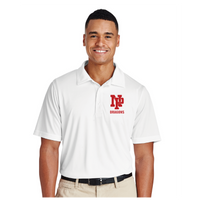 Mens Performance Polo - Red NP Dragons, Stacked