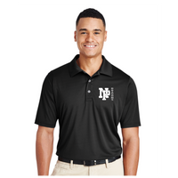 Mens Performance Polo - White NP Dragons, Side by Side
