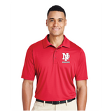 Mens Performance Polo - White NP Dragons, Stacked