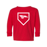 Toddler L/S T-shirt:  Home Plate Dragons Logo