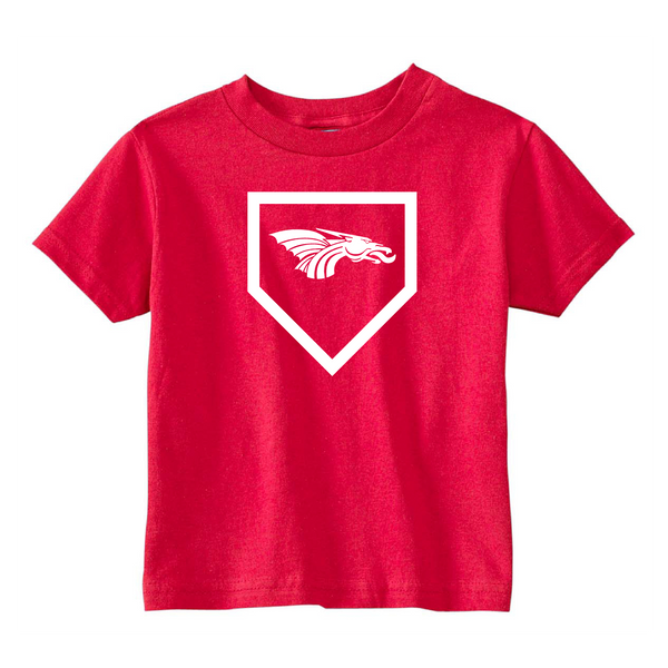 Toddler S/S T-shirt:  Home Plate Dragons Logo