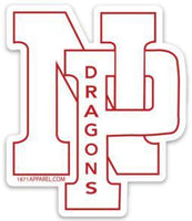 White NP Dragons, Red Outline