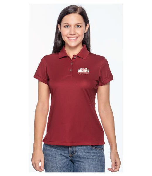 Womens Adidas ClimatLite Polo - We Are Dragons NPHS