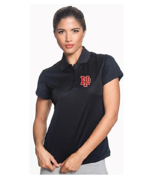Womens Adidas ClimatLite Polo - Red NP Logo, White Outline