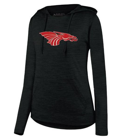 Womens Lightweight Hoodie - Red Dragon Head Logo