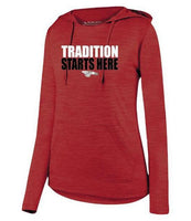 Womens Lightweight Hoodie - Tradition Starts Here