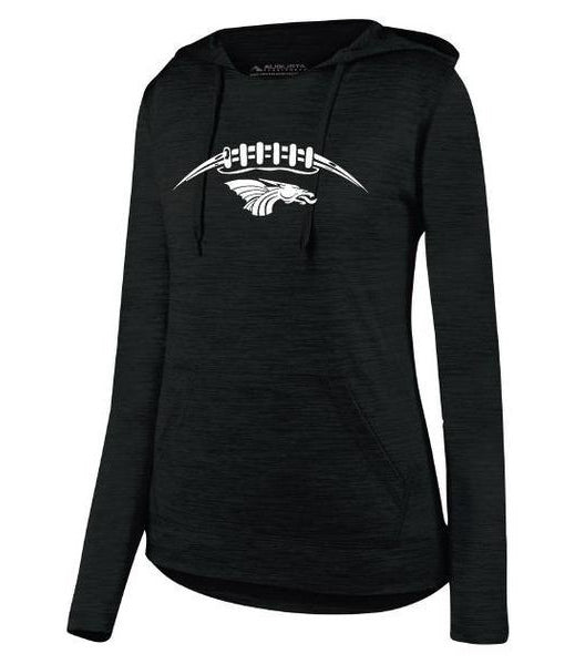Womens Lightweight Hoodie - Dragons Football Laces