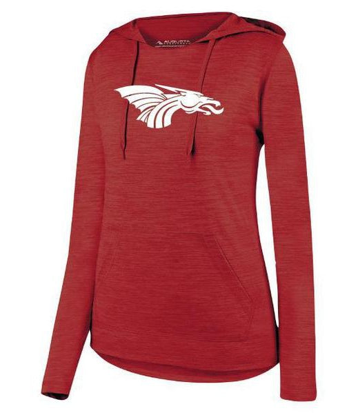 Womens Lightweight Hoodie - White Dragon Head Logo