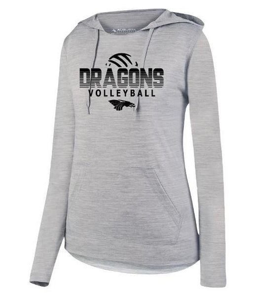 Womens Lightweight Hoodie - Dragons Volleyball