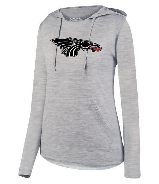Womens Lightweight Hoodie - Black Dragon Head Logo