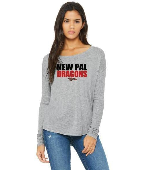 Womens Flowy Long Sleeve T-Shirt - New Pal Dragons
