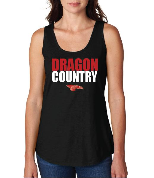 Womens X-Temp Performance Tank Top - Dragon Country